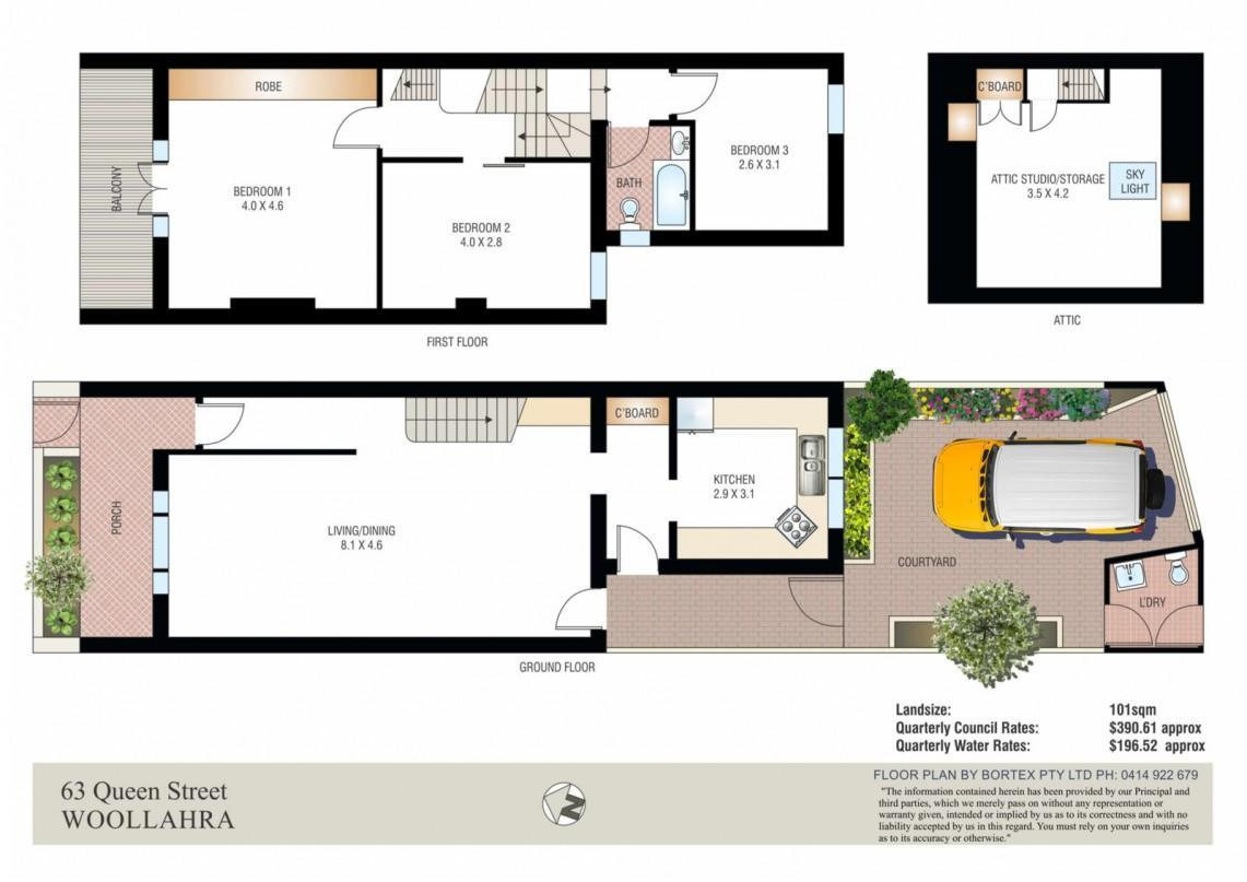 Sydney terrace house floor plan for Terrace home plans